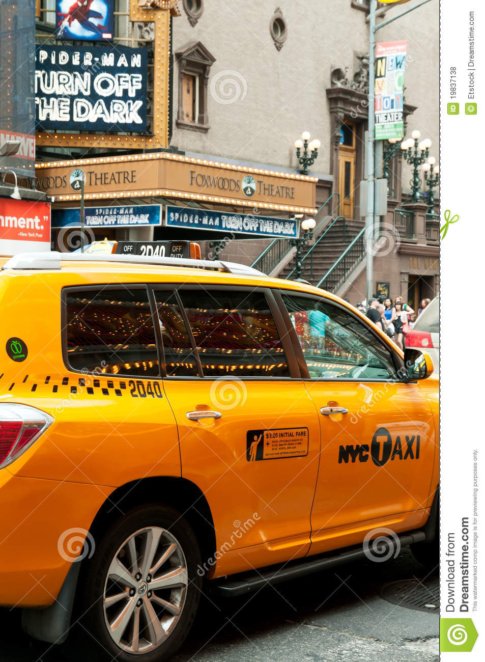 new york city taxi yellow cab editorial photo 23689837. Black Bedroom Furniture Sets. Home Design Ideas