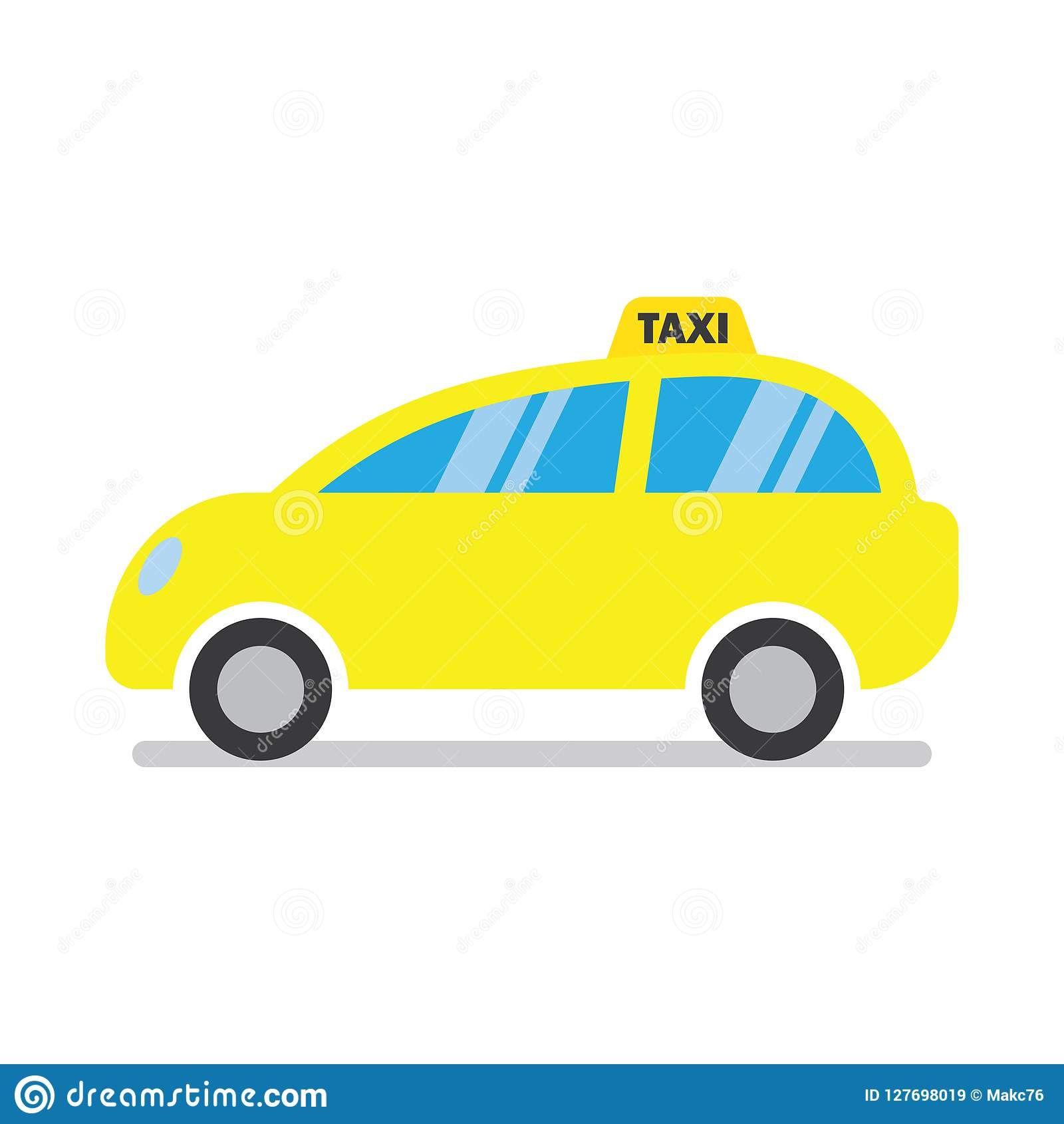 Yellow taxi cab icon stock vector  Illustration of symbol