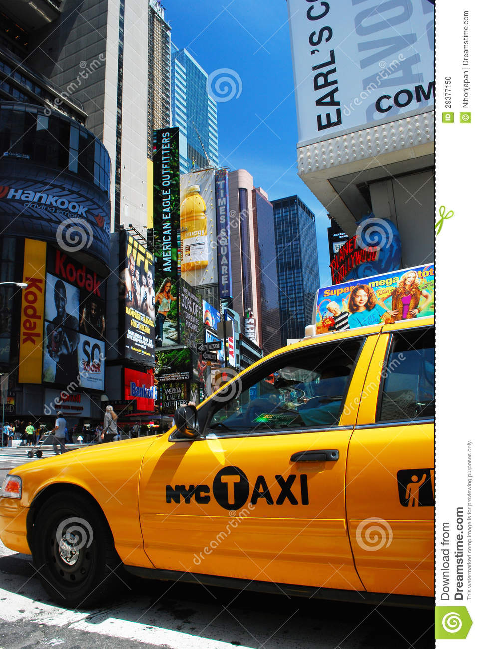 Yellow Taxi In New York City Editorial Image