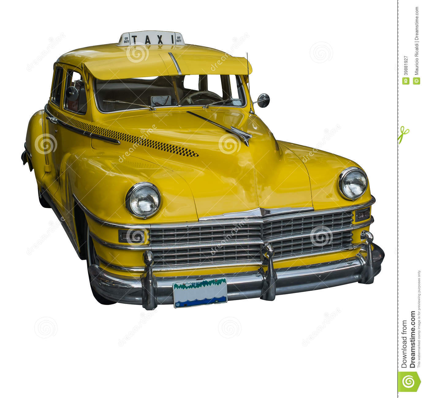 Yellow taxi stock image. Image of public, transportation ...