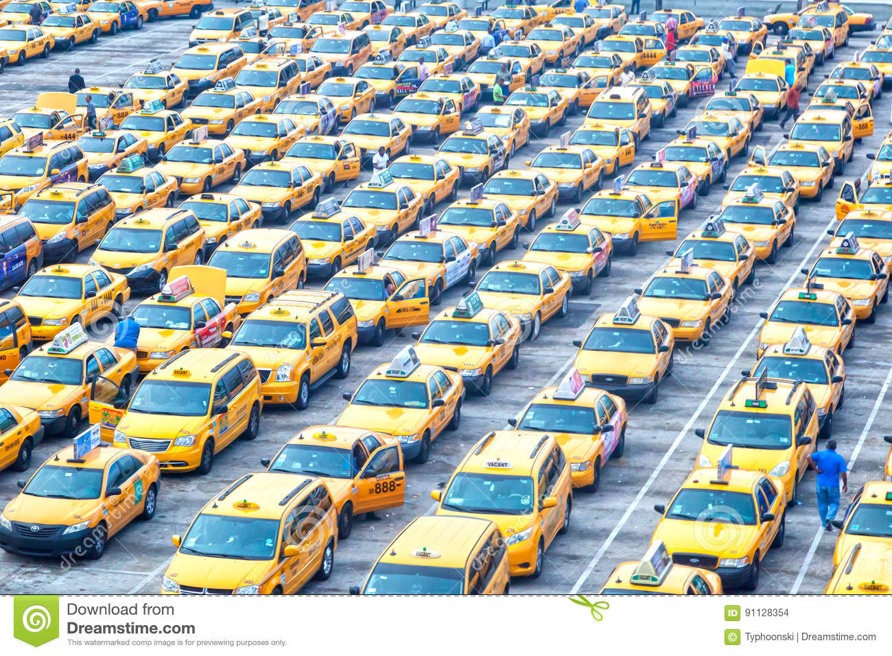 yellow taxis at the miami airport editorial stock image image of
