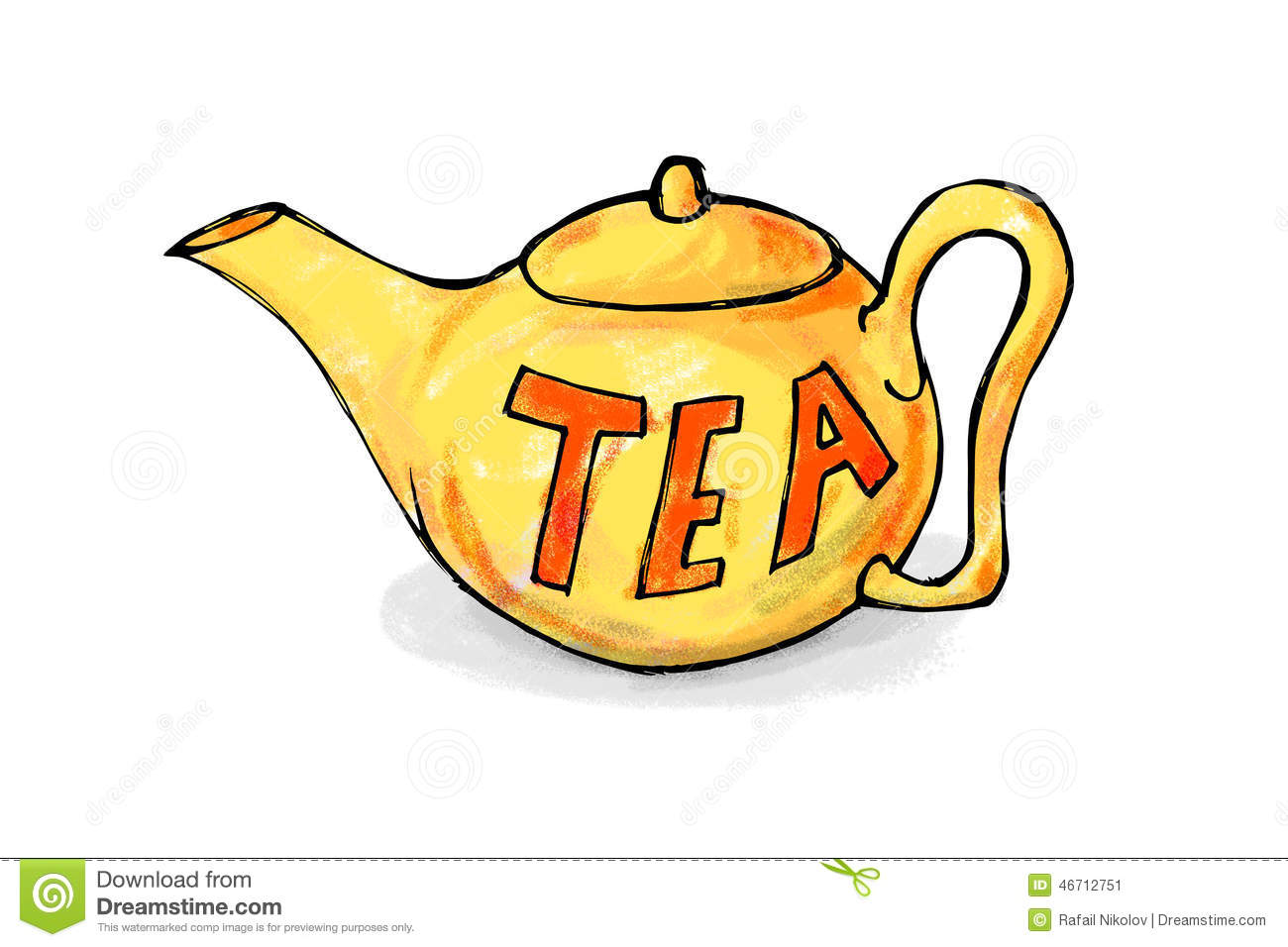 Cartoon Teapot Beverage Ceramic Image Royalty Free