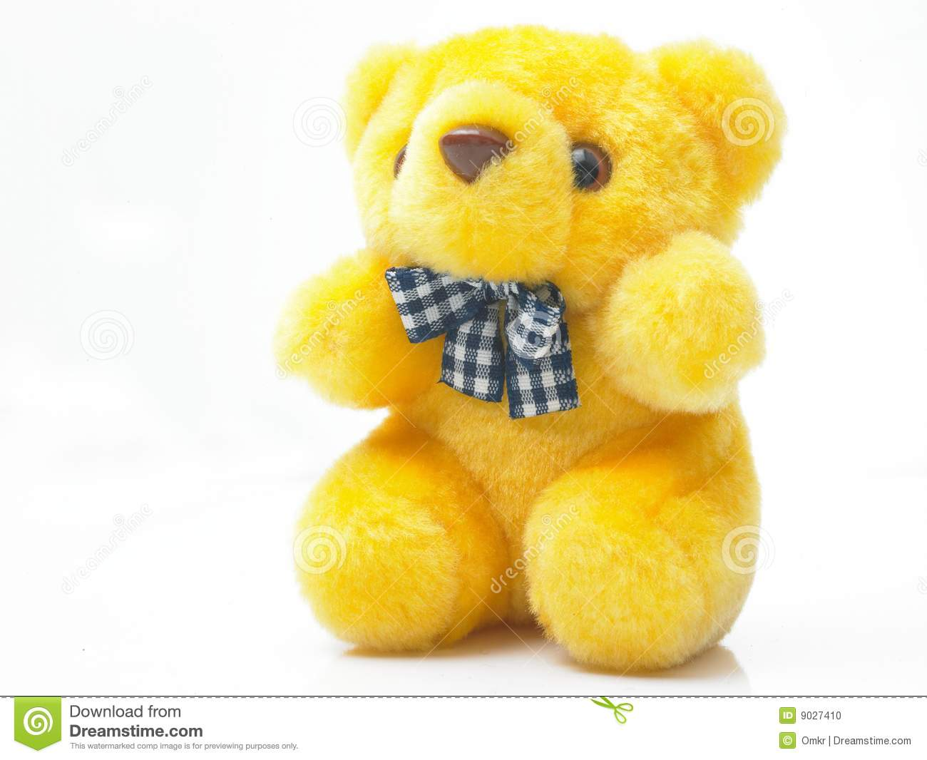 Yellow Teddy Bear Stock Photo Image 9027410
