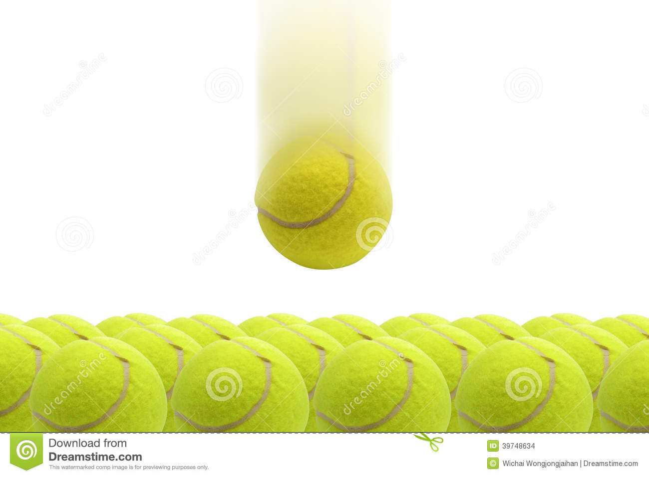 Yellow Tennis Ball Stock Photo Image Of Curve
