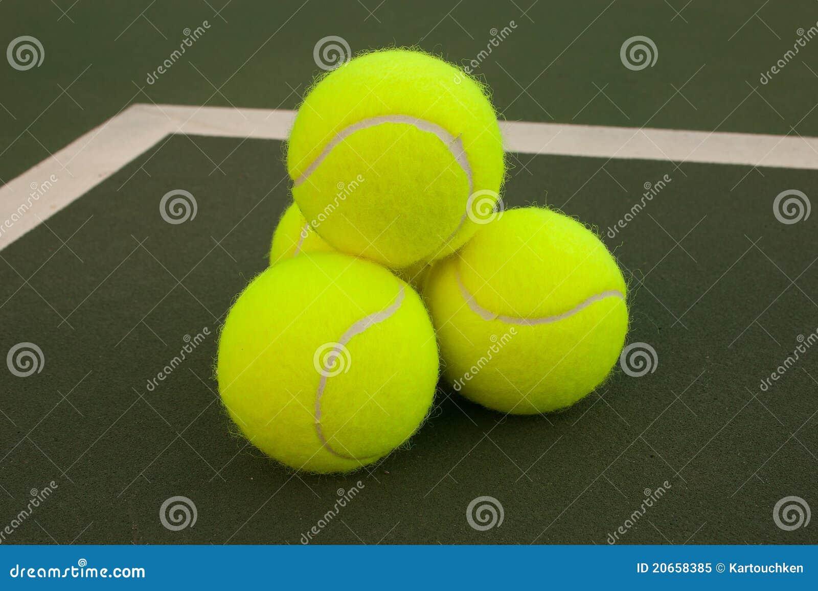 Yellow Tennis Balls 6 Royalty Free Stock Photo Image