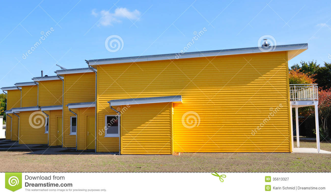 Modern Terraced Family House With A Balcony Royalty Free