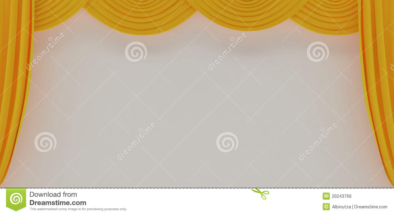 Yellow theater curtains royalty free stock image image for Cortinas amarillas