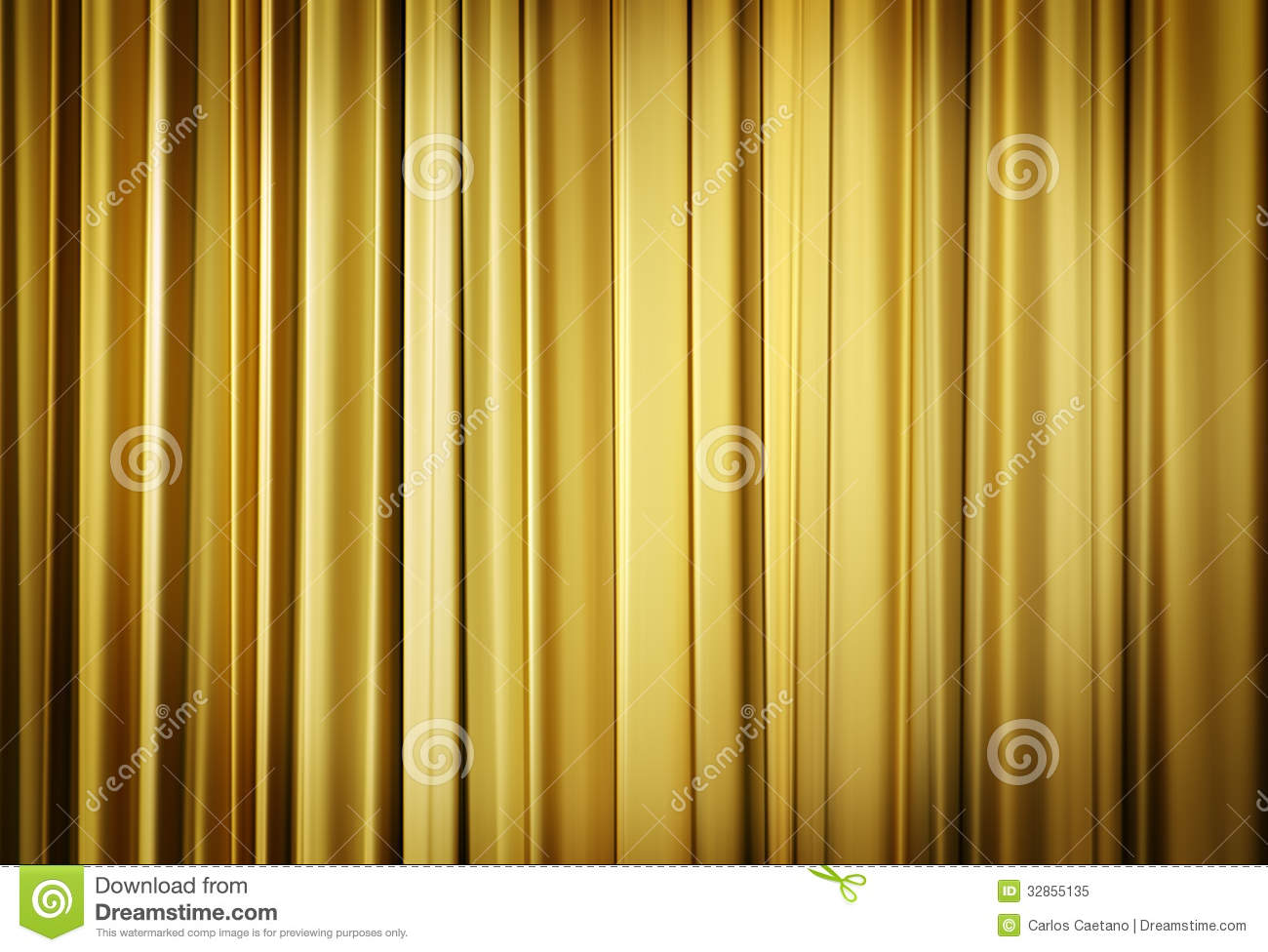 Yellow theater curtains stock image image of cinema for Cortinas amarillas