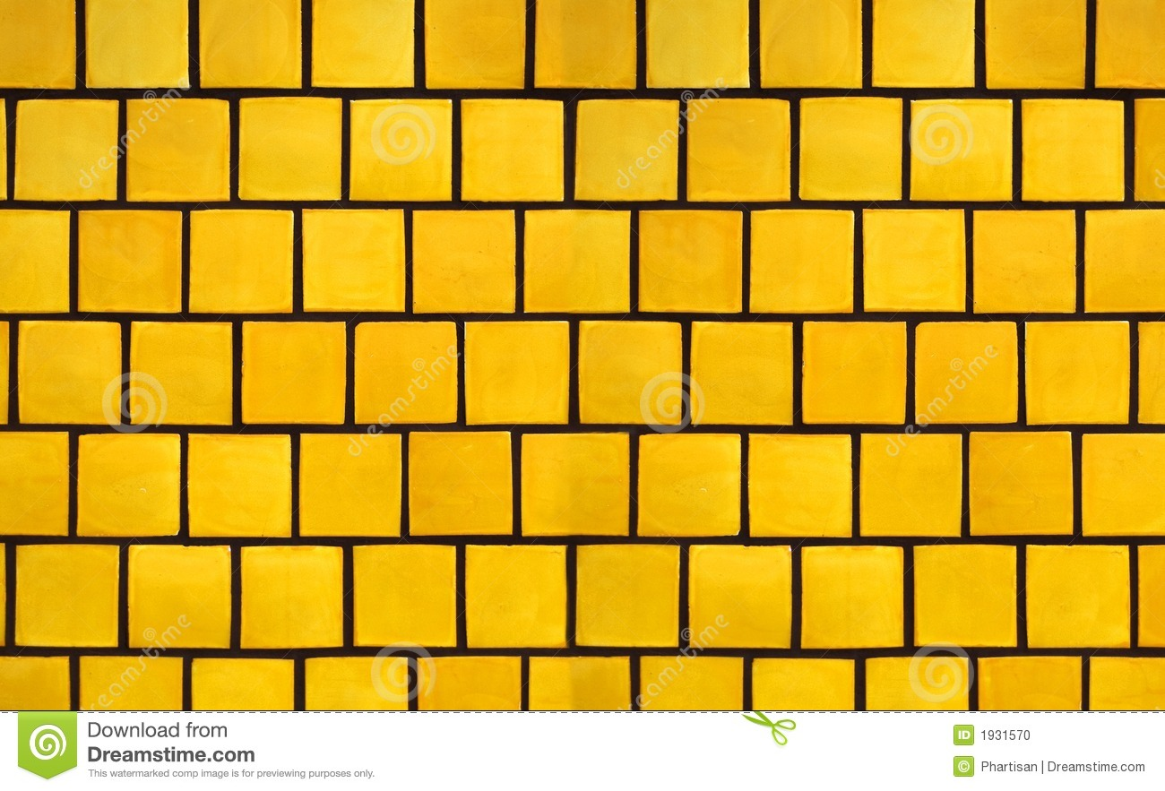 Yellow Tile Background Stock Photo Image 1931570