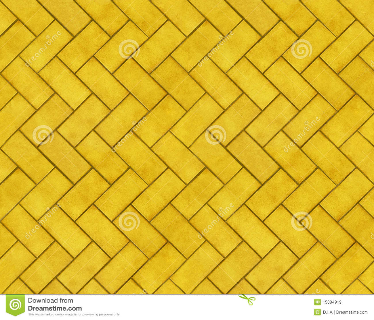 Yellow Tileable Brick Textures Stock Illustration