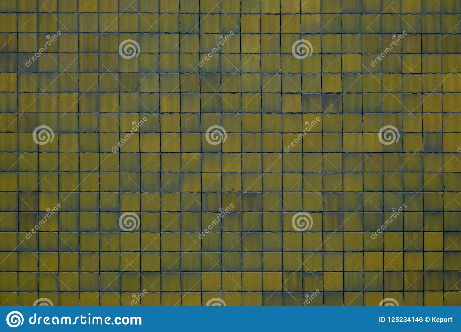 Yellow tiles background