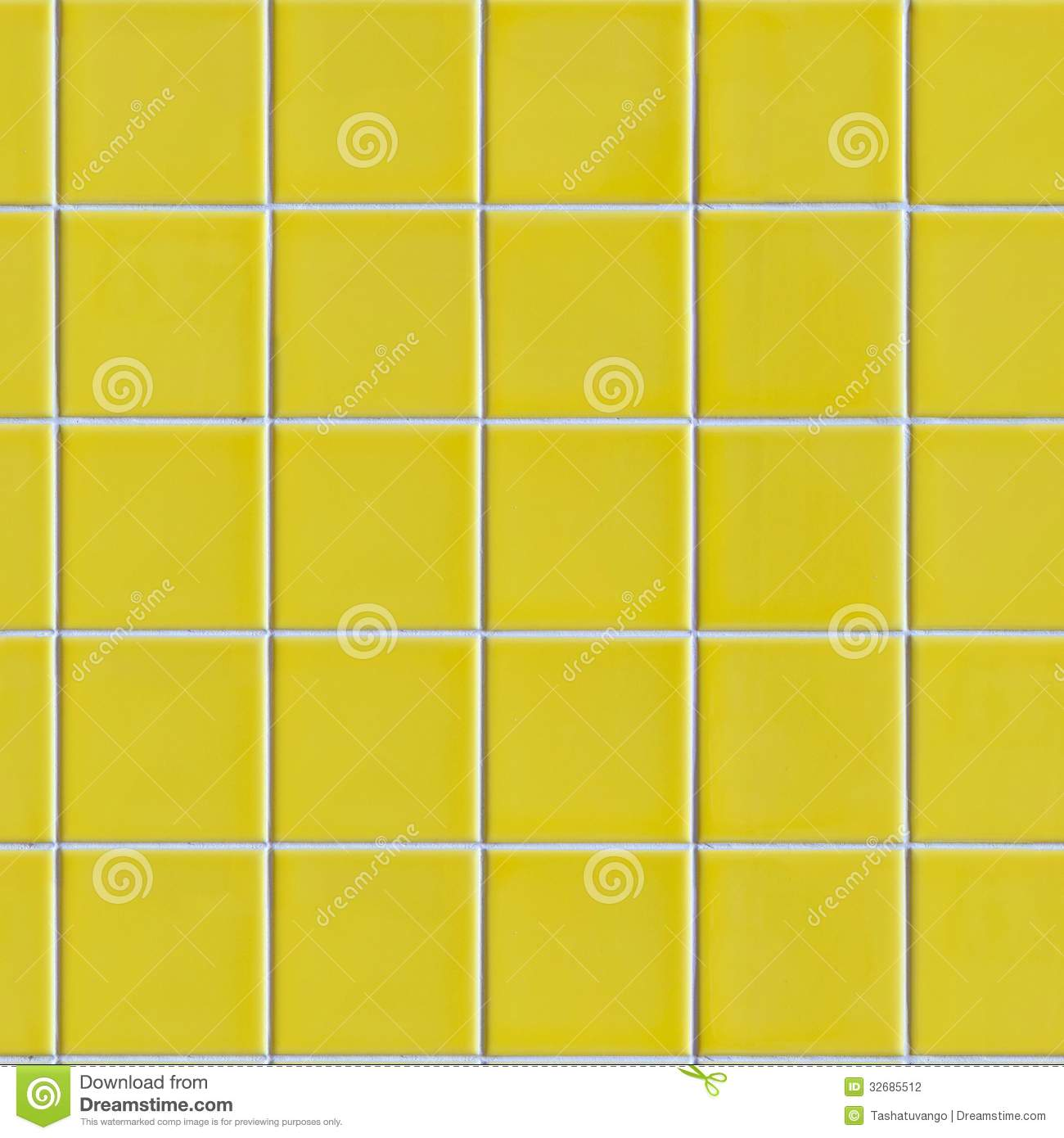 Yellow Tiles Seamless Texture Stock Photography Image