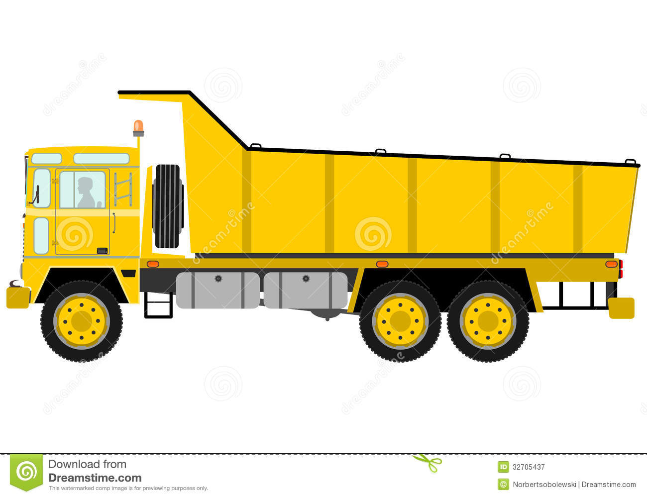 Yellow Tipper Truck Royalty Free Stock Photography Image