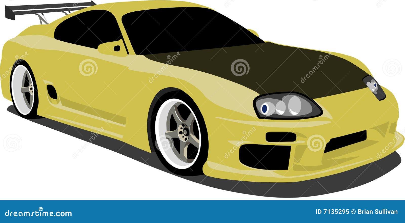 Yellow Toyota Supra Stock Illustration Image Of Sports