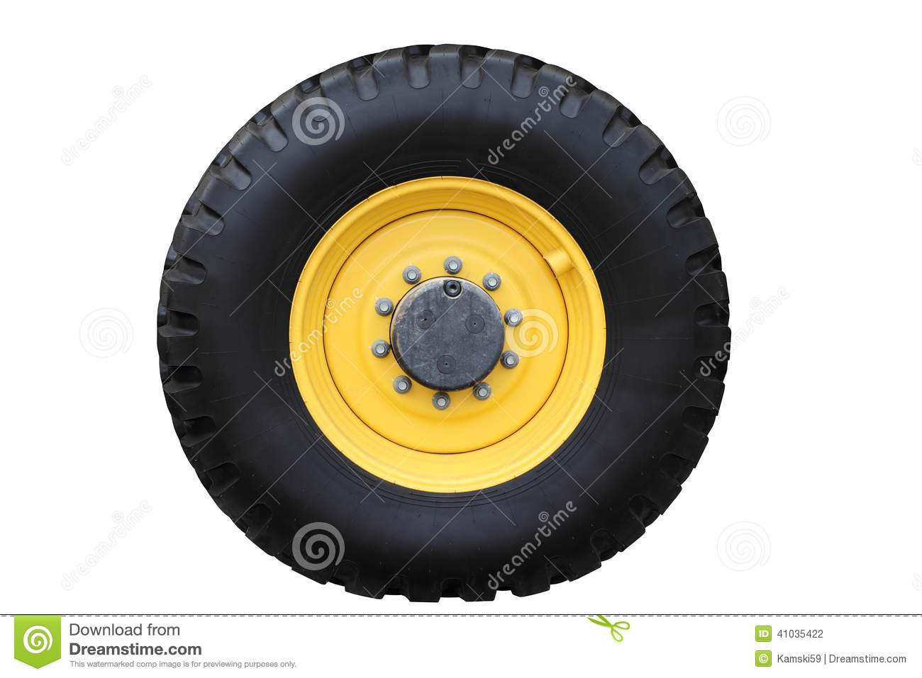 yellow big wheel excavator painted black rubber tire stock photography 88156862. Black Bedroom Furniture Sets. Home Design Ideas