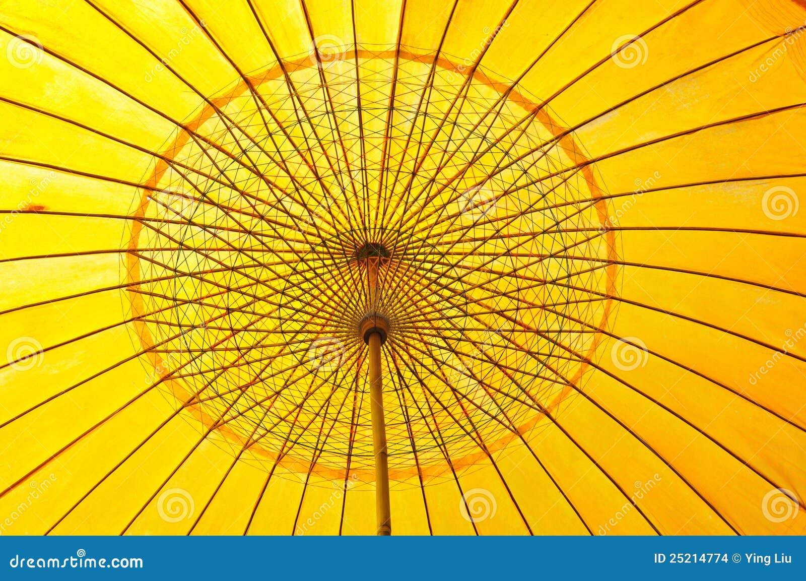 one yellow umbrella in row of blue umbrellas stock illustration 61008670. Black Bedroom Furniture Sets. Home Design Ideas