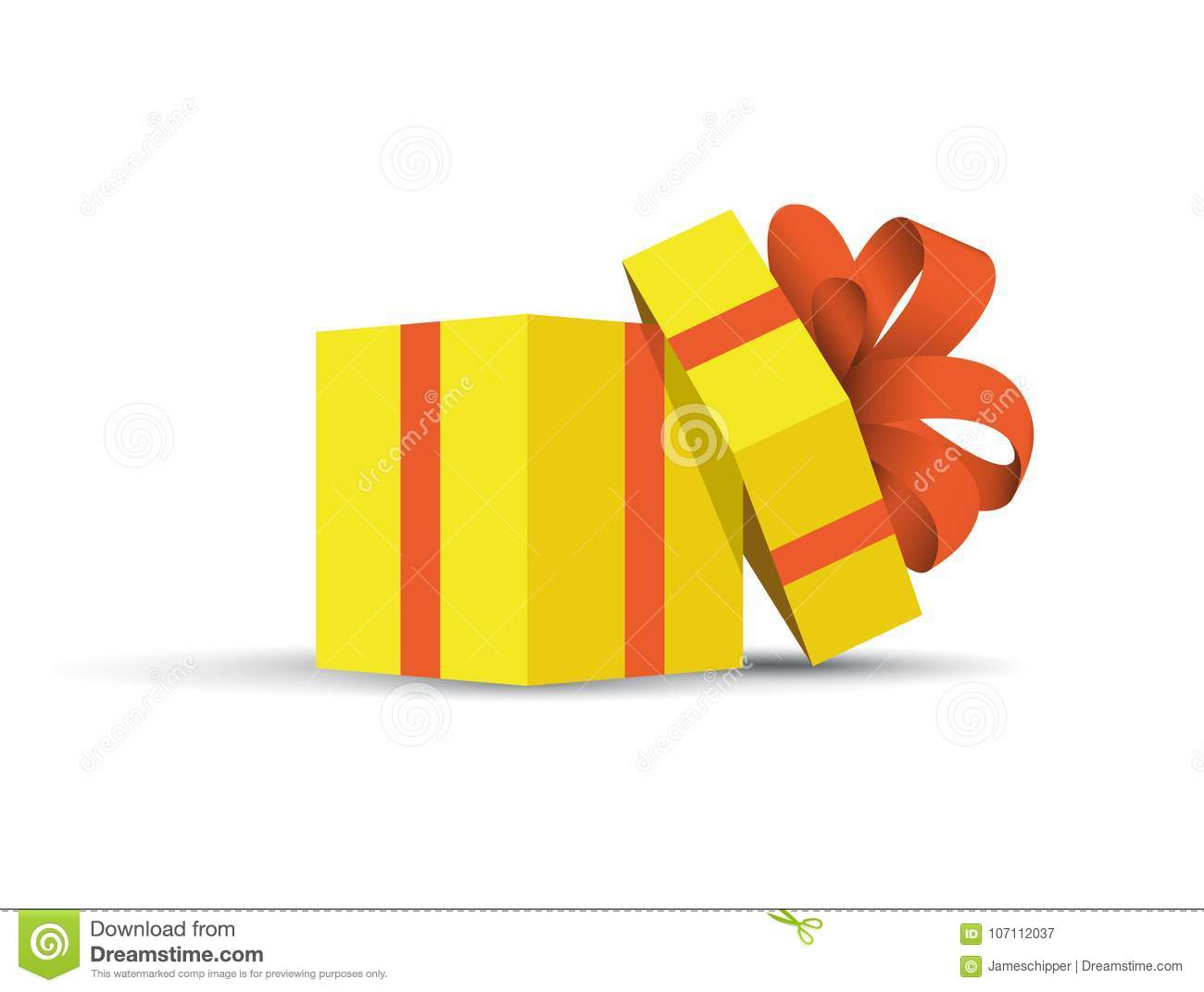 Yellow wrapped present