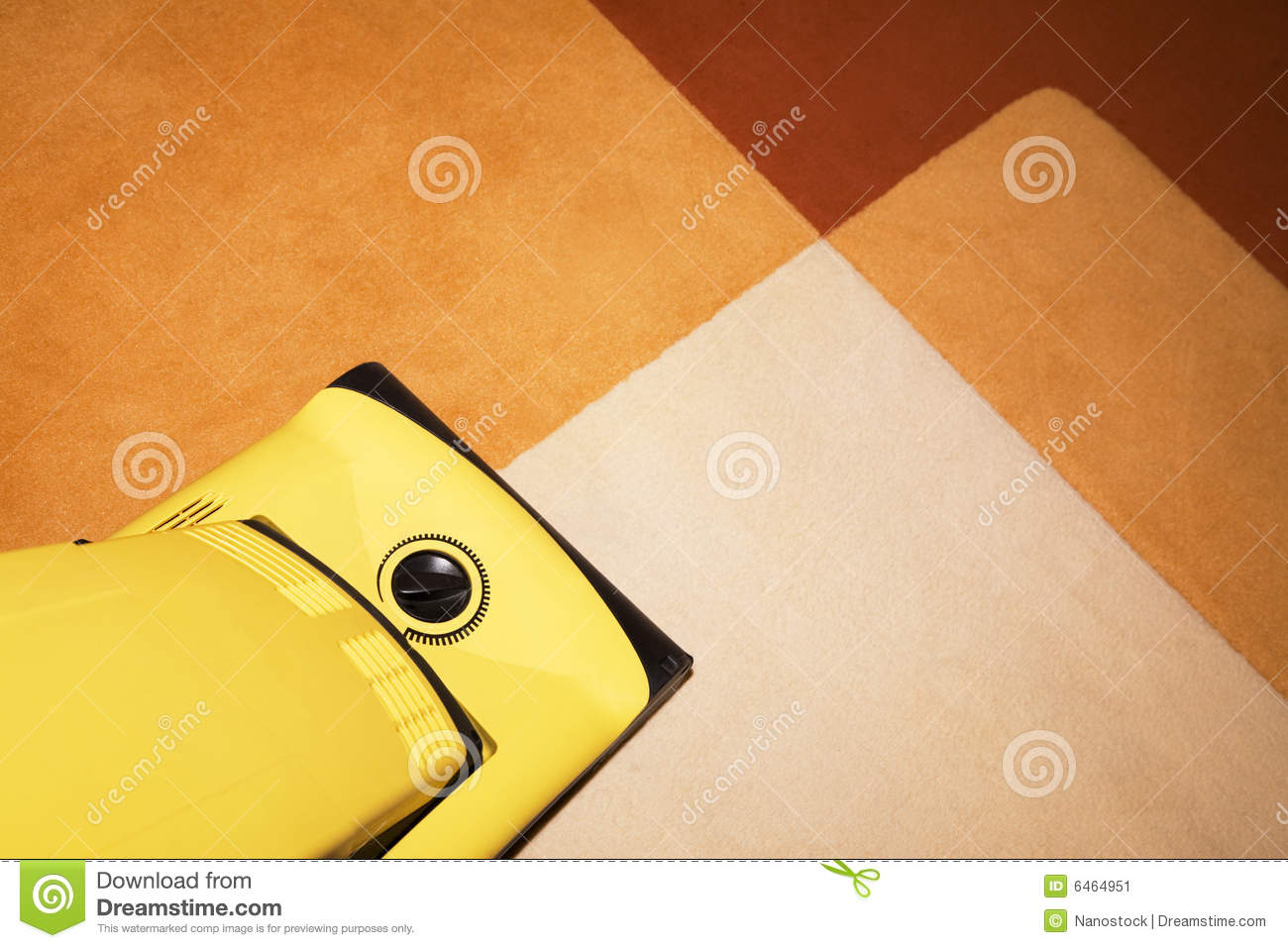 Yellow Vacuum Cleaner On A Carpet Stock Image Image 6464951