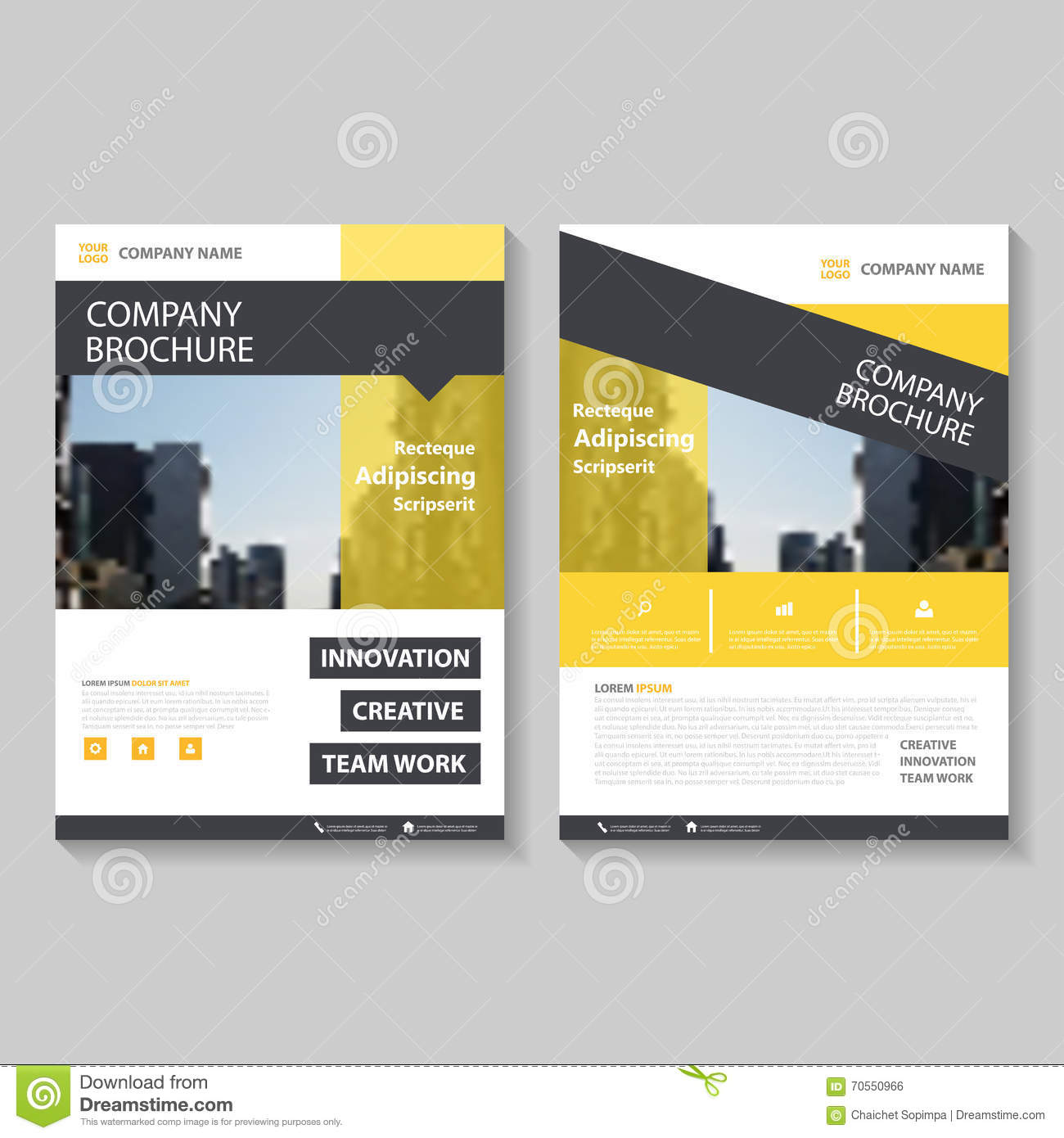 yellow vector annual report leaflet brochure flyer template design book cover layout design abstract presentation templates