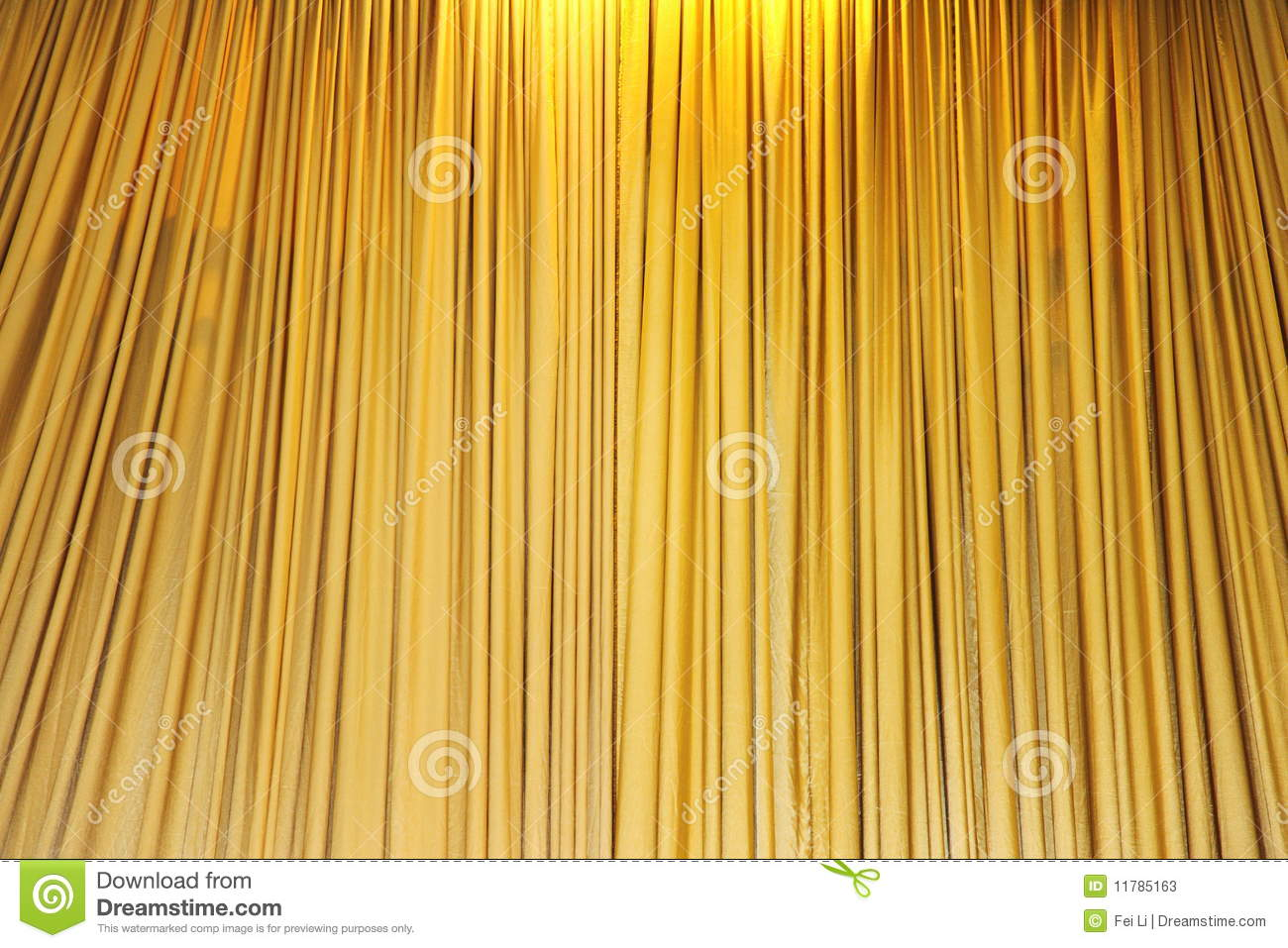 Download Yellow Velvet Theater Curtains Stock Image