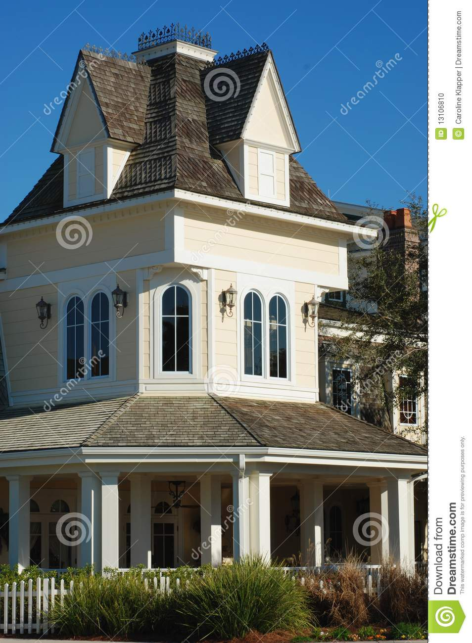 Yellow Victorian House Stock Photo Image 13106810