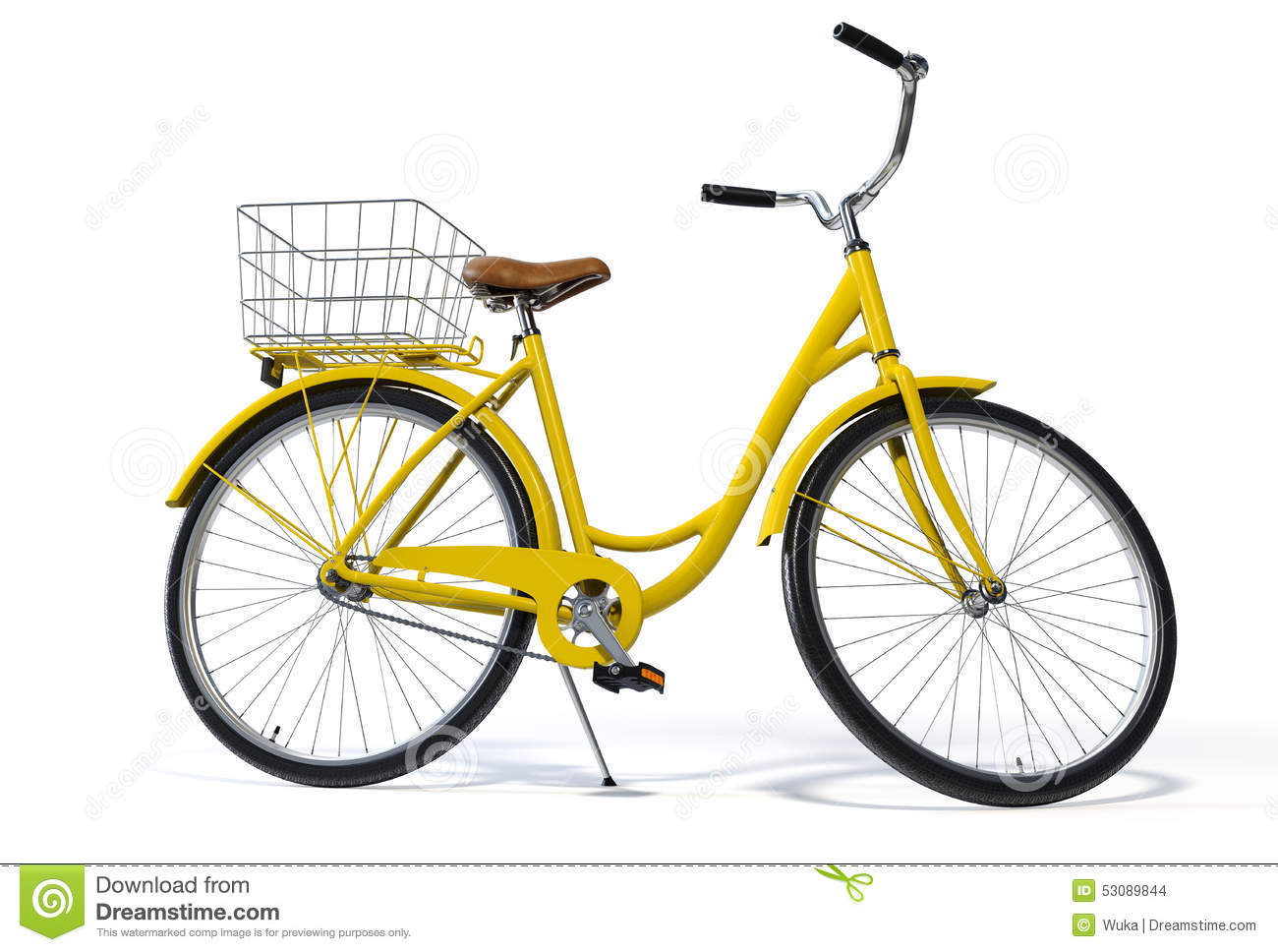 Yellow Vintage Style Bike Stock Photo Image Of Front 53089844