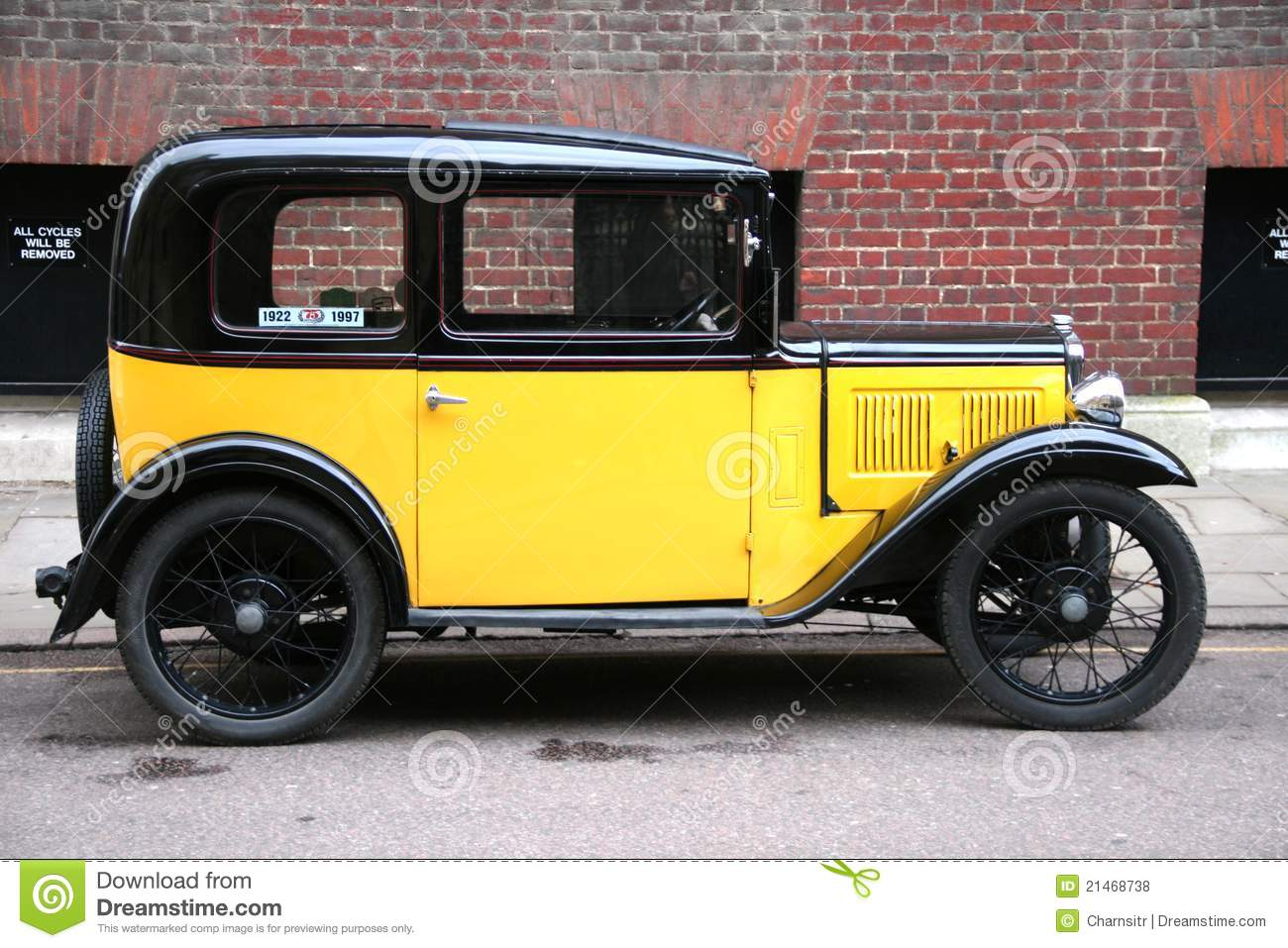 Yellow vintage style car stock photo. Image of icon, passion - 21468738