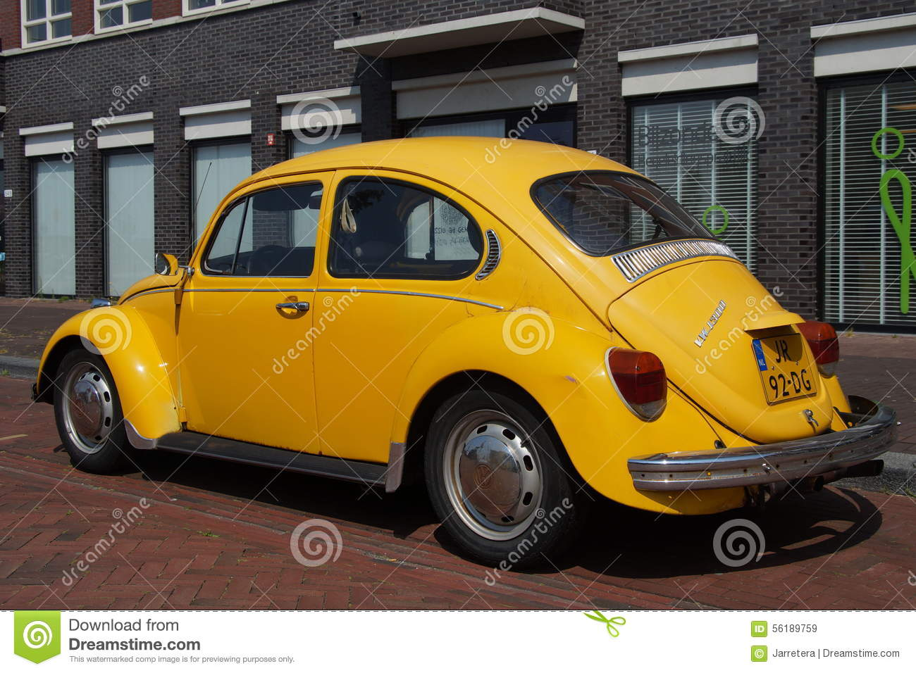 yellow volkswagen kafer classic vw beetle editorial stock image image 56189759. Black Bedroom Furniture Sets. Home Design Ideas