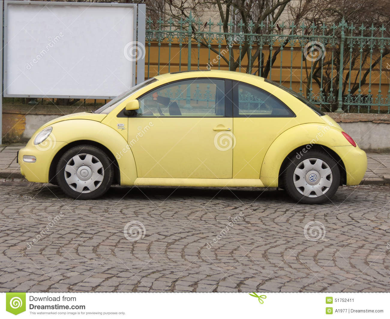 yellow volkswagen new beetle editorial photo image 51752411. Black Bedroom Furniture Sets. Home Design Ideas