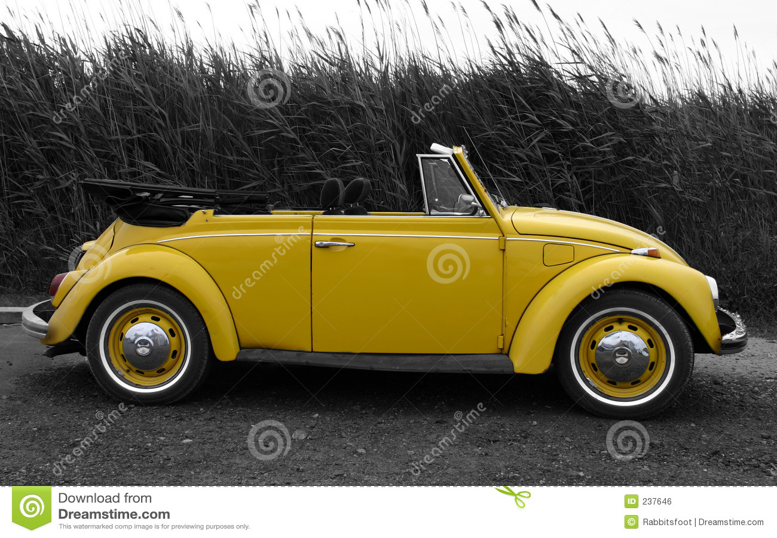 Yellow VW Royalty Free Stock Image - Image: 237646
