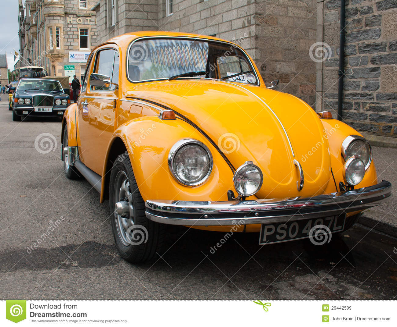 yellow vw beetle editorial stock image image of german 26442599. Black Bedroom Furniture Sets. Home Design Ideas