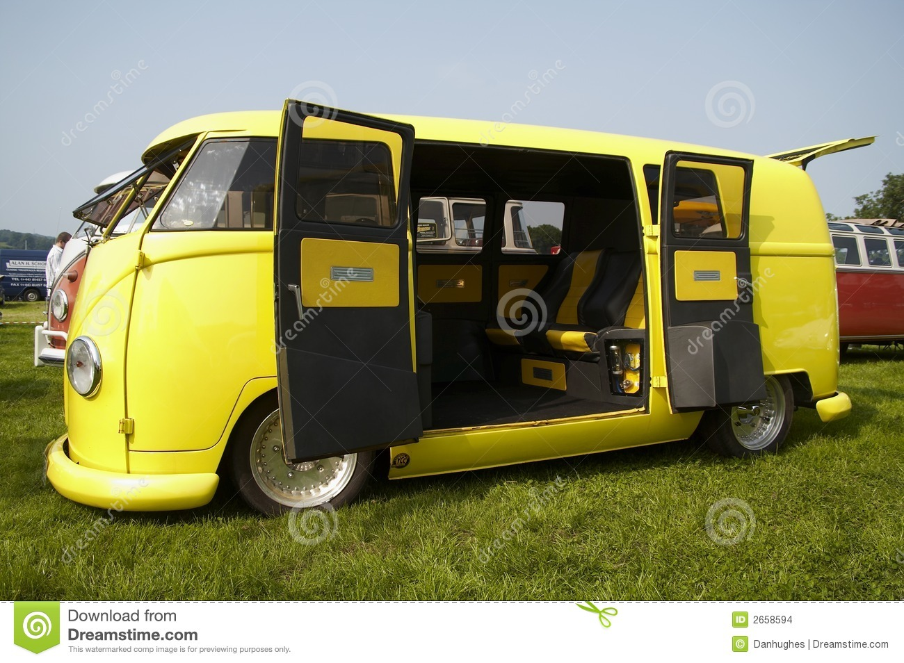 yellow vw camper stock images image