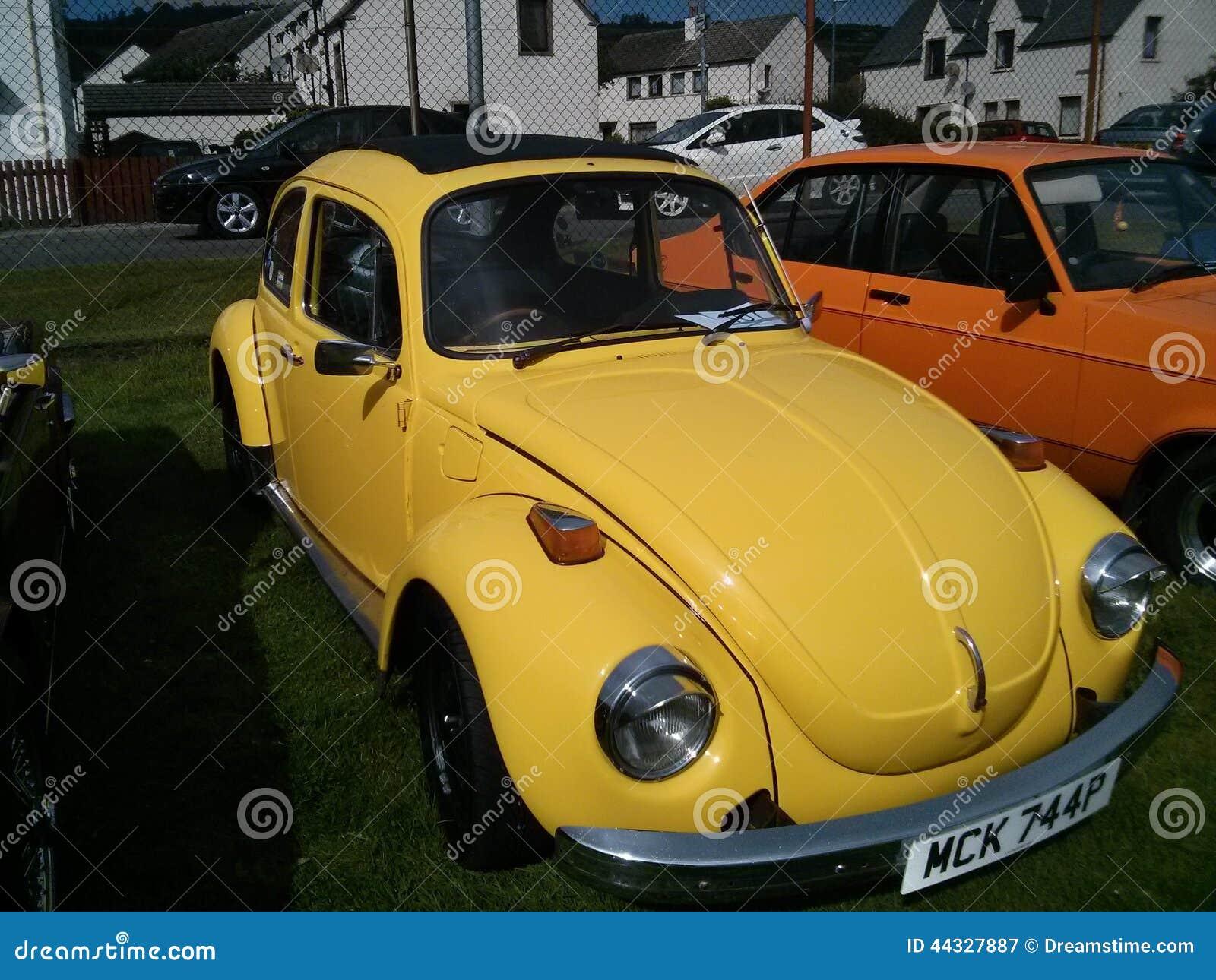 Volkswagen beetle yellow