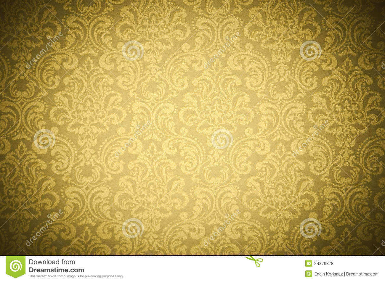 Yellow Wallpaper Texture Royalty Free Stock Photos Image