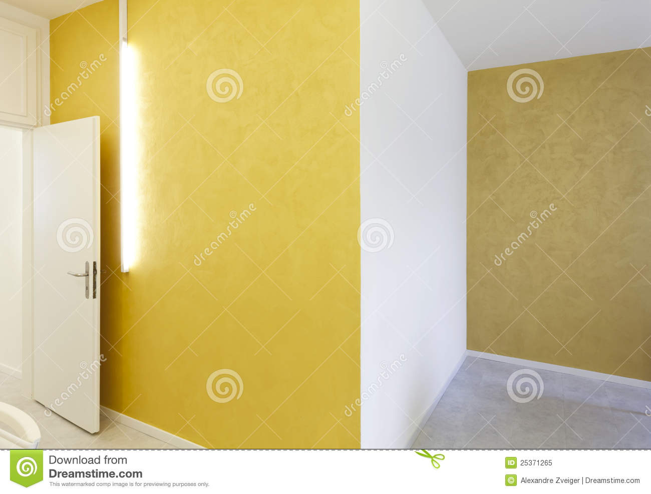 Yellow walls and neon