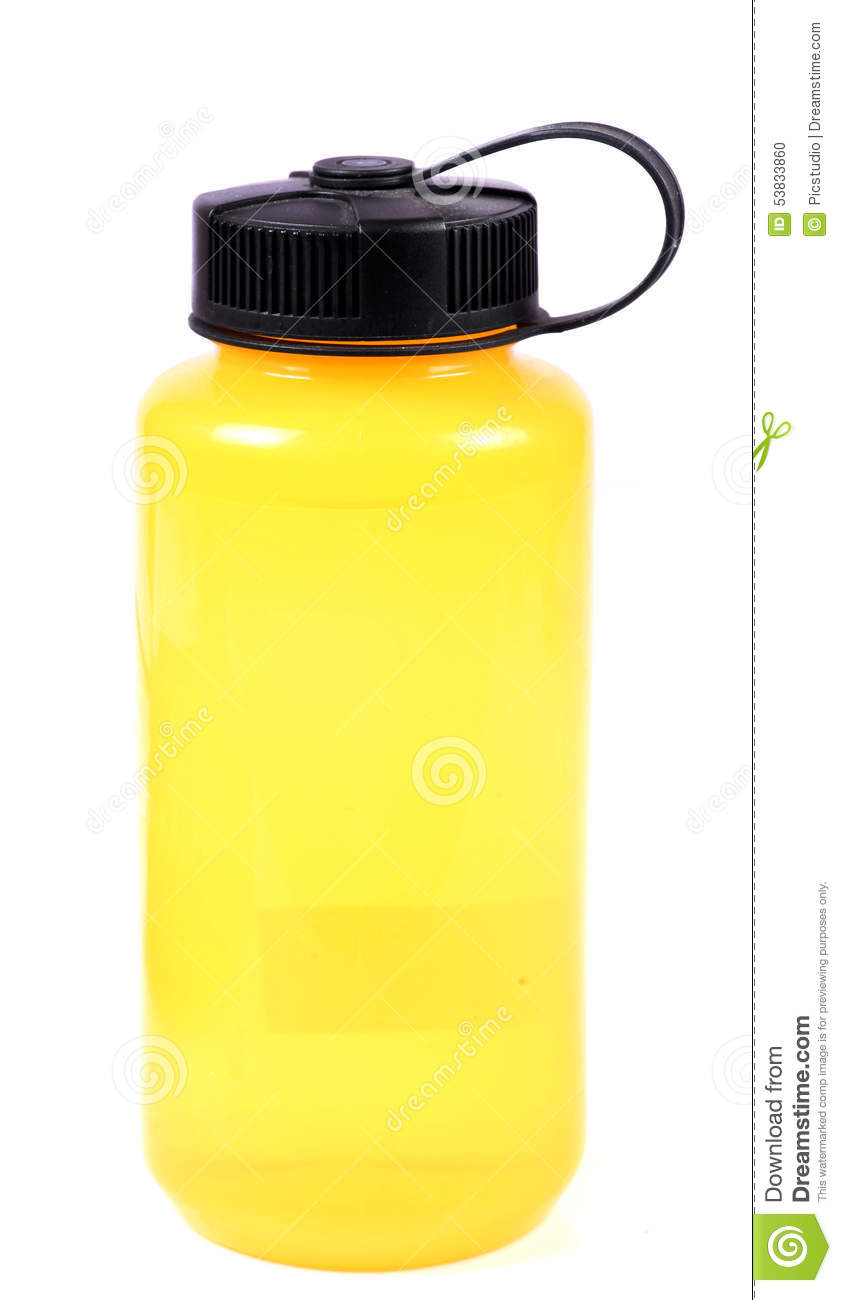 Download Yellow water bottle stock photo. Image of water, bottle - 53833860