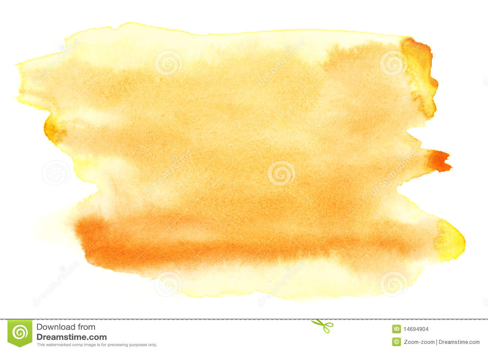 Yellow watercolor