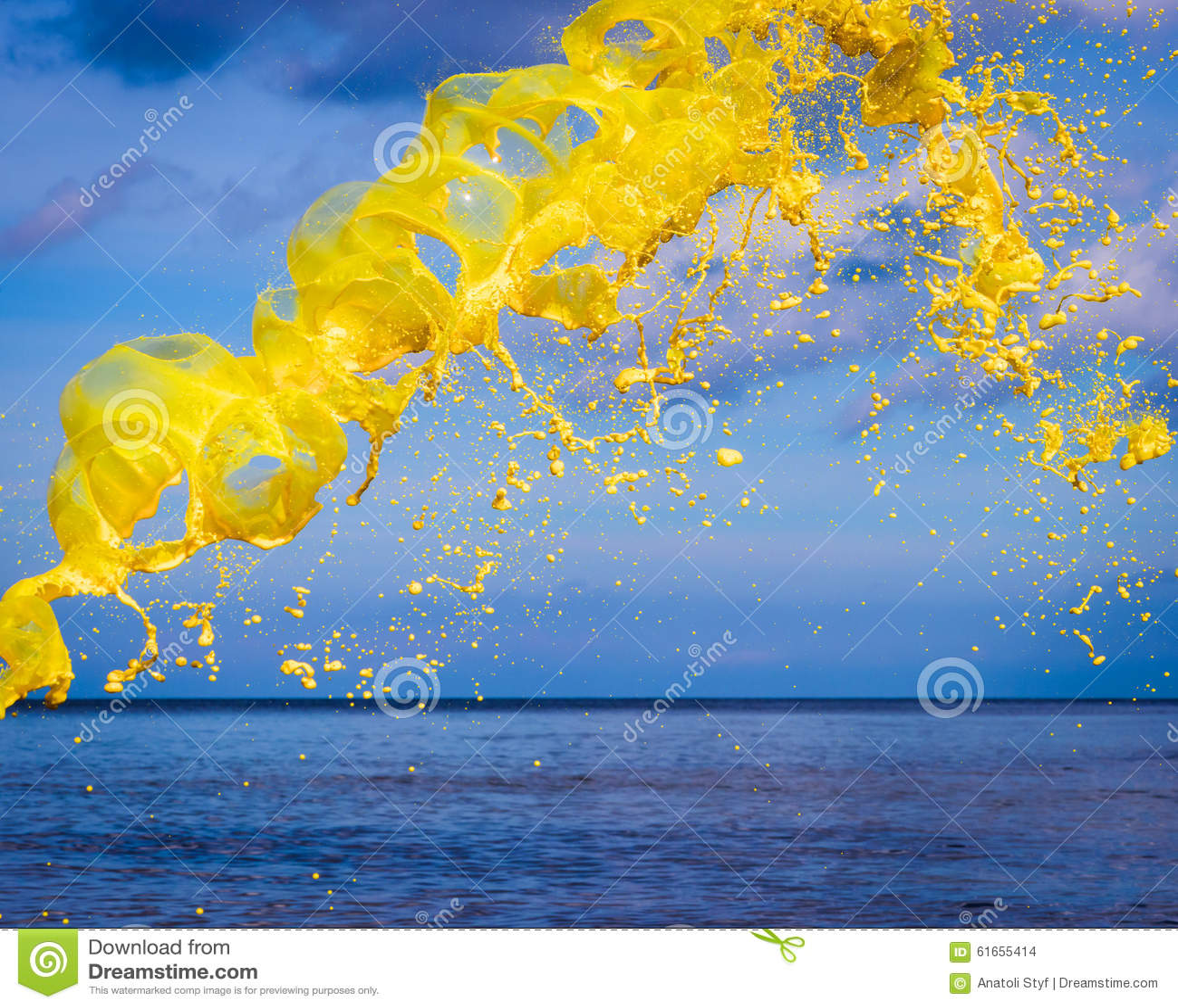 Yellow watercolour splash