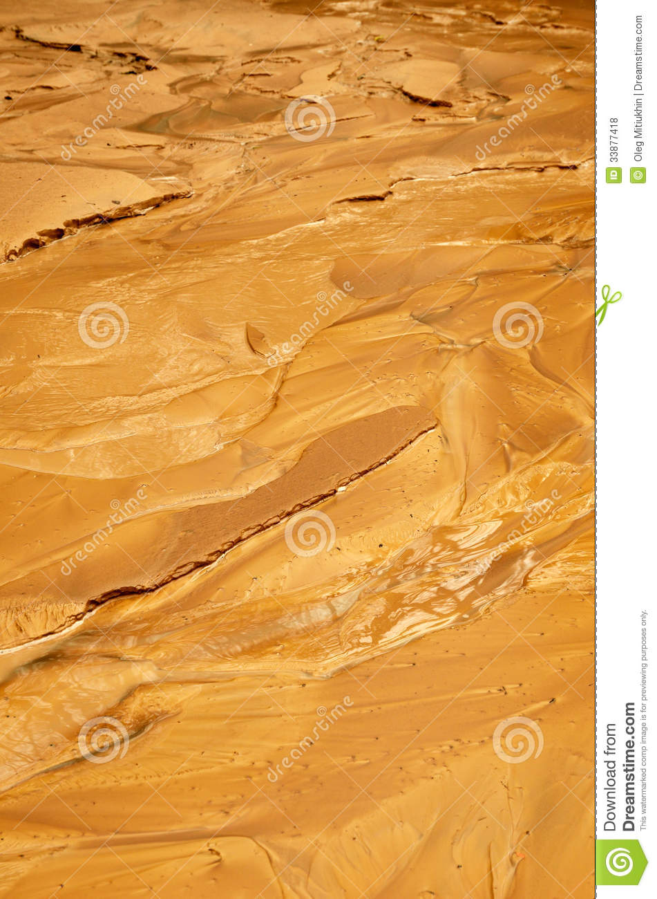 Yellow Wet Clay Sediment Royalty Free Stock Photos - Image