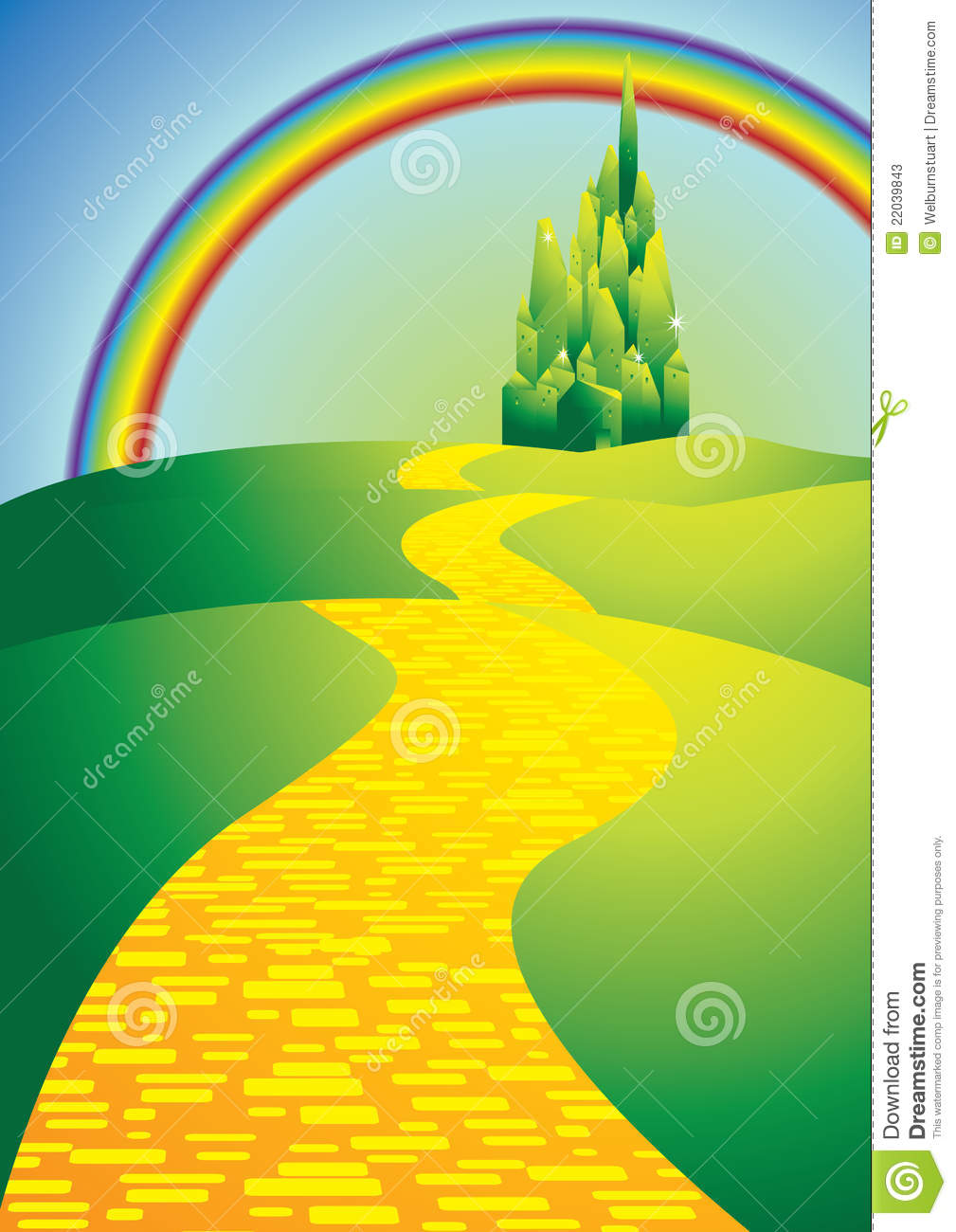 yellowbrickroad stock vector image of colours path