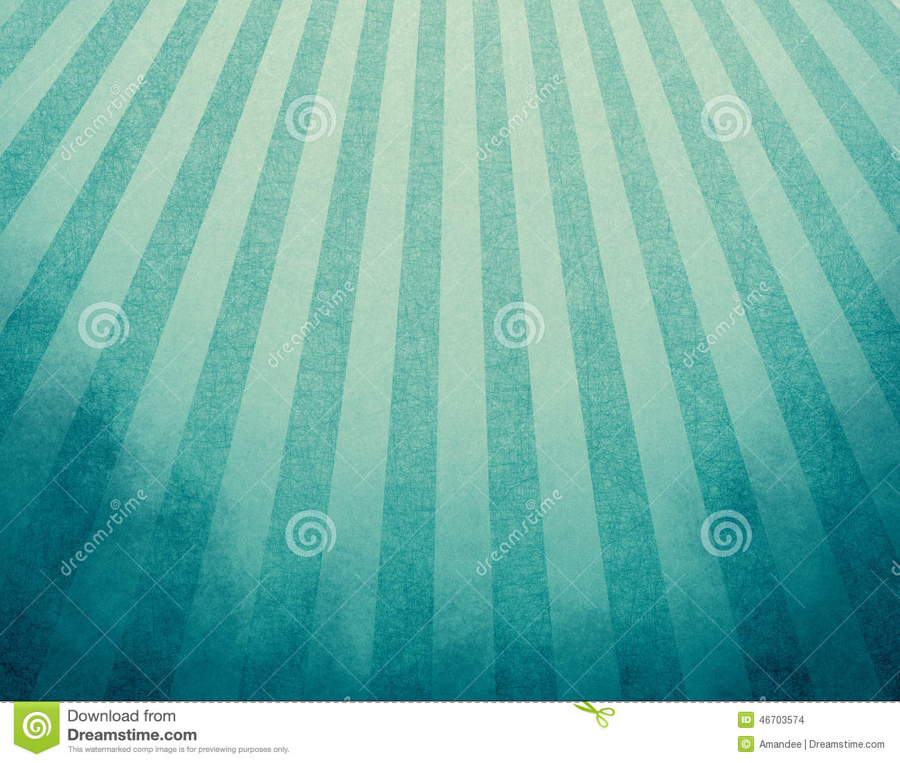 Yellowed blue retro background with faded grunge borders and soft blue and yellow stripes sunburst effect or starburst design