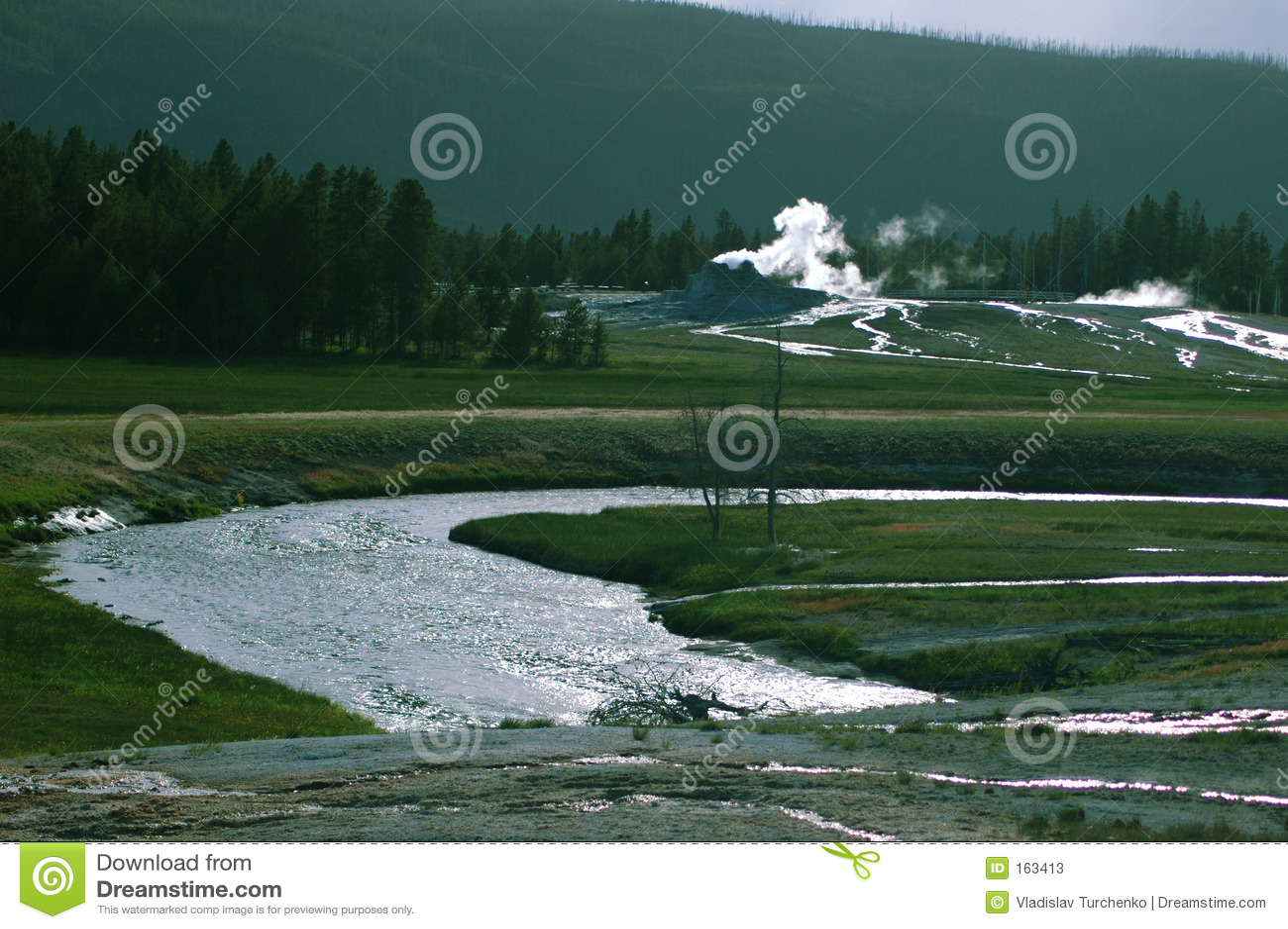 Yellowstone geyser valley