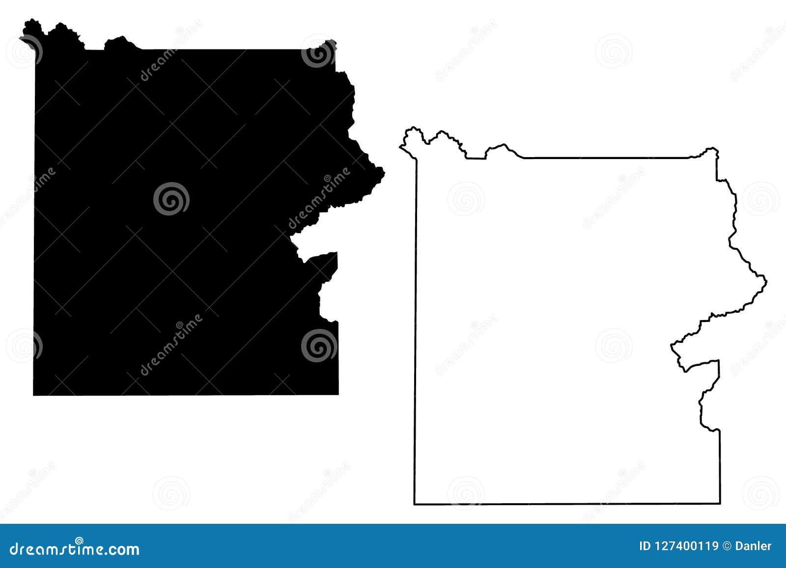 Yellowstone National Park Map Vector Stock Vector