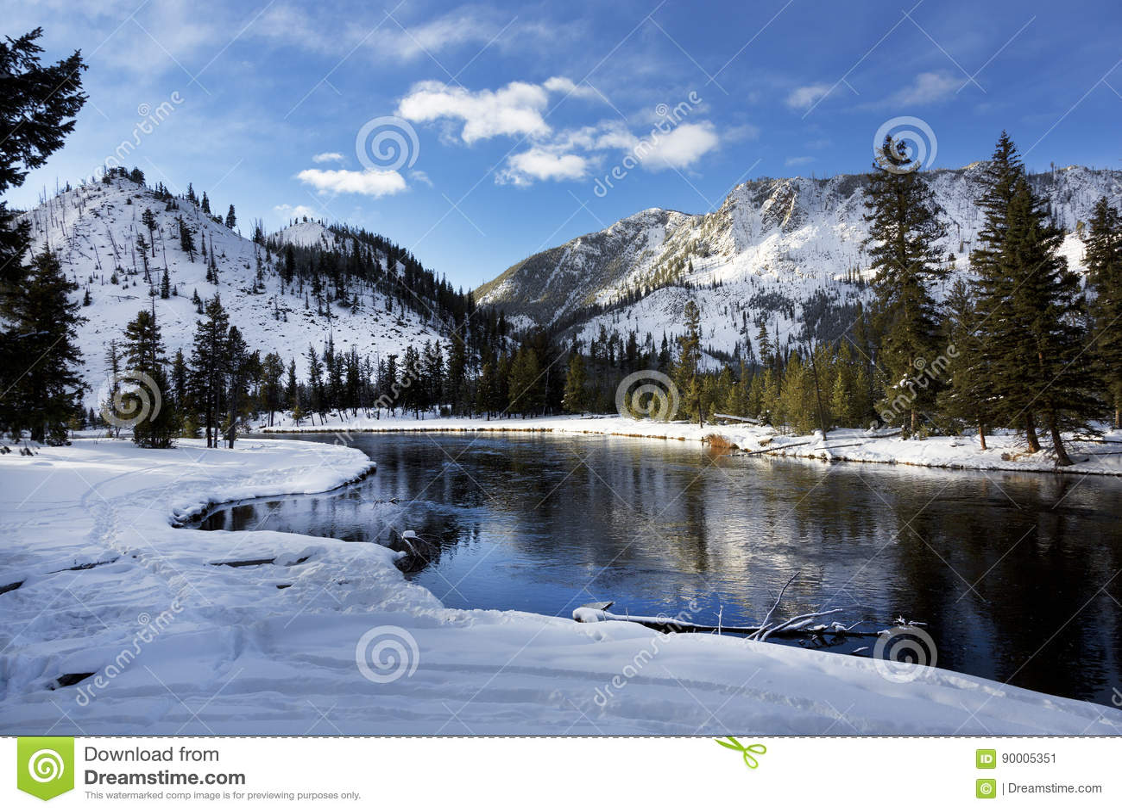 Yellowstone River, Winter, Yellowstone National Park