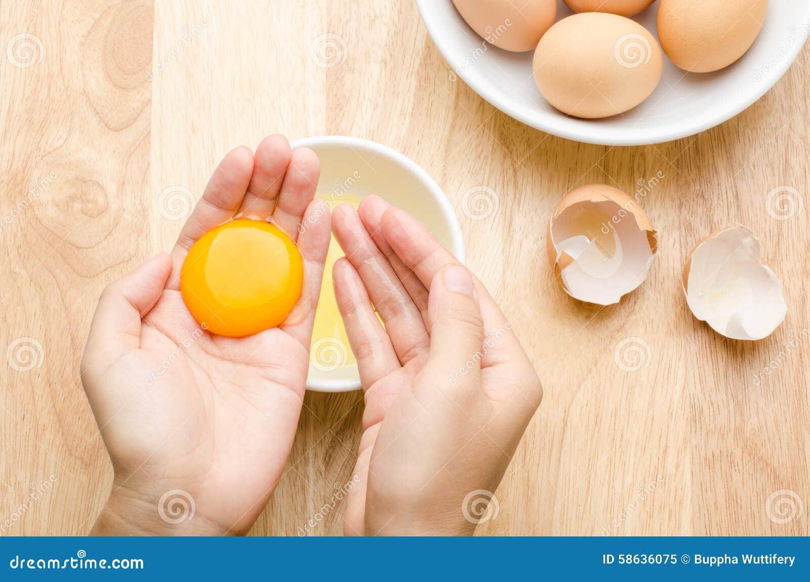 yema de huevo para cocinar foto de archivo imagen 58636075