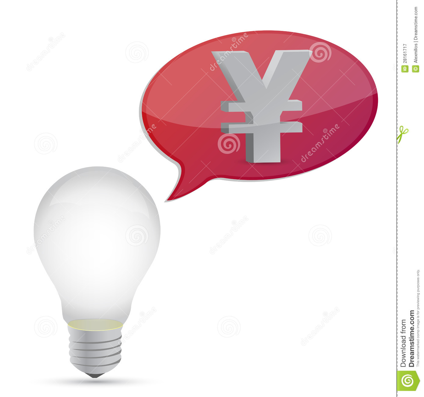 Yen Energy Saving Bulb Royalty-Free Illustration ...
