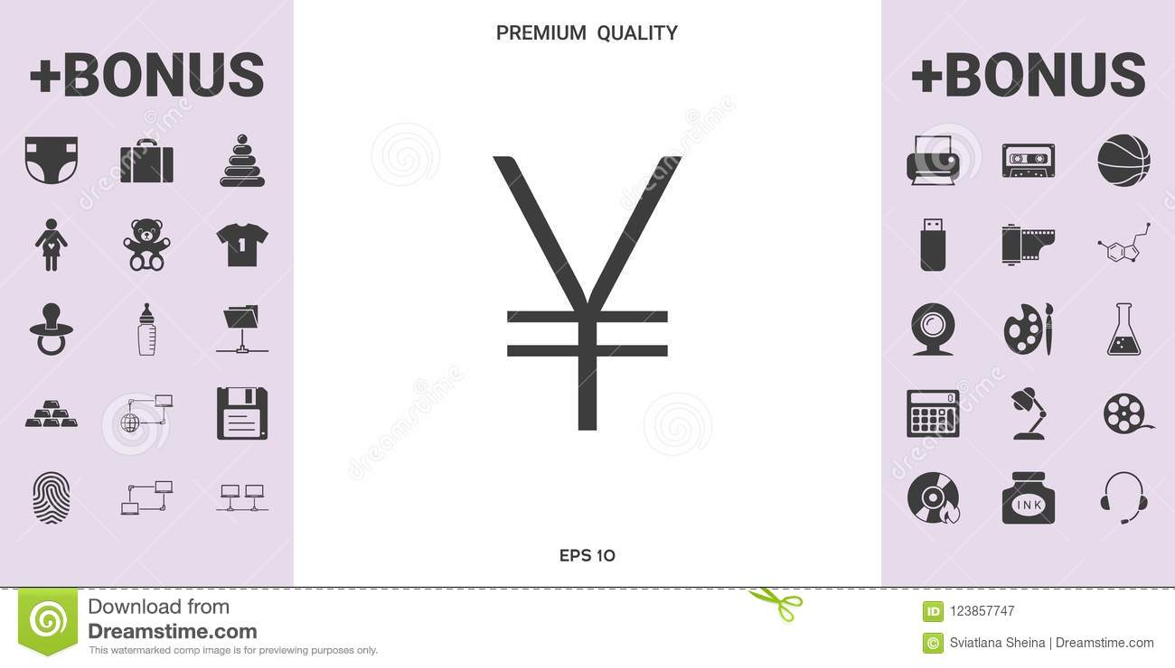 Yen Symbol Icon Graphic Elements For Your Design Stock Vector