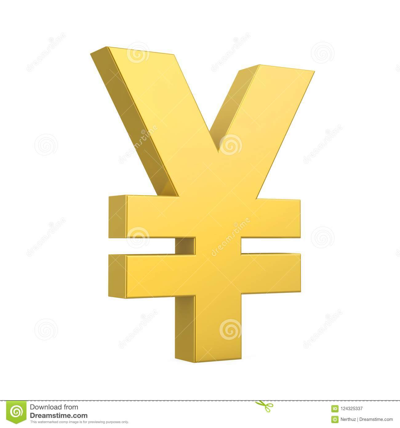 Yenes/Yuan Currency Sign Isolated