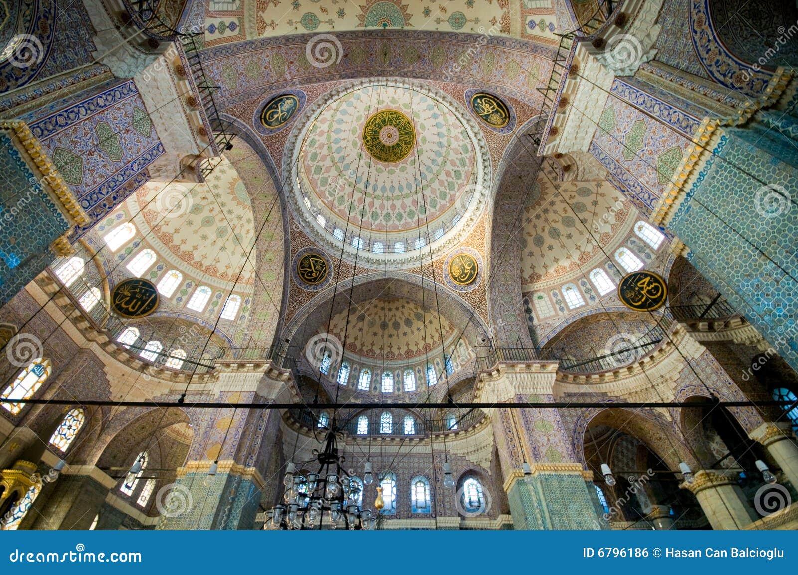 Yeni Cami (nueva mezquita) en Estambul, Turquía
