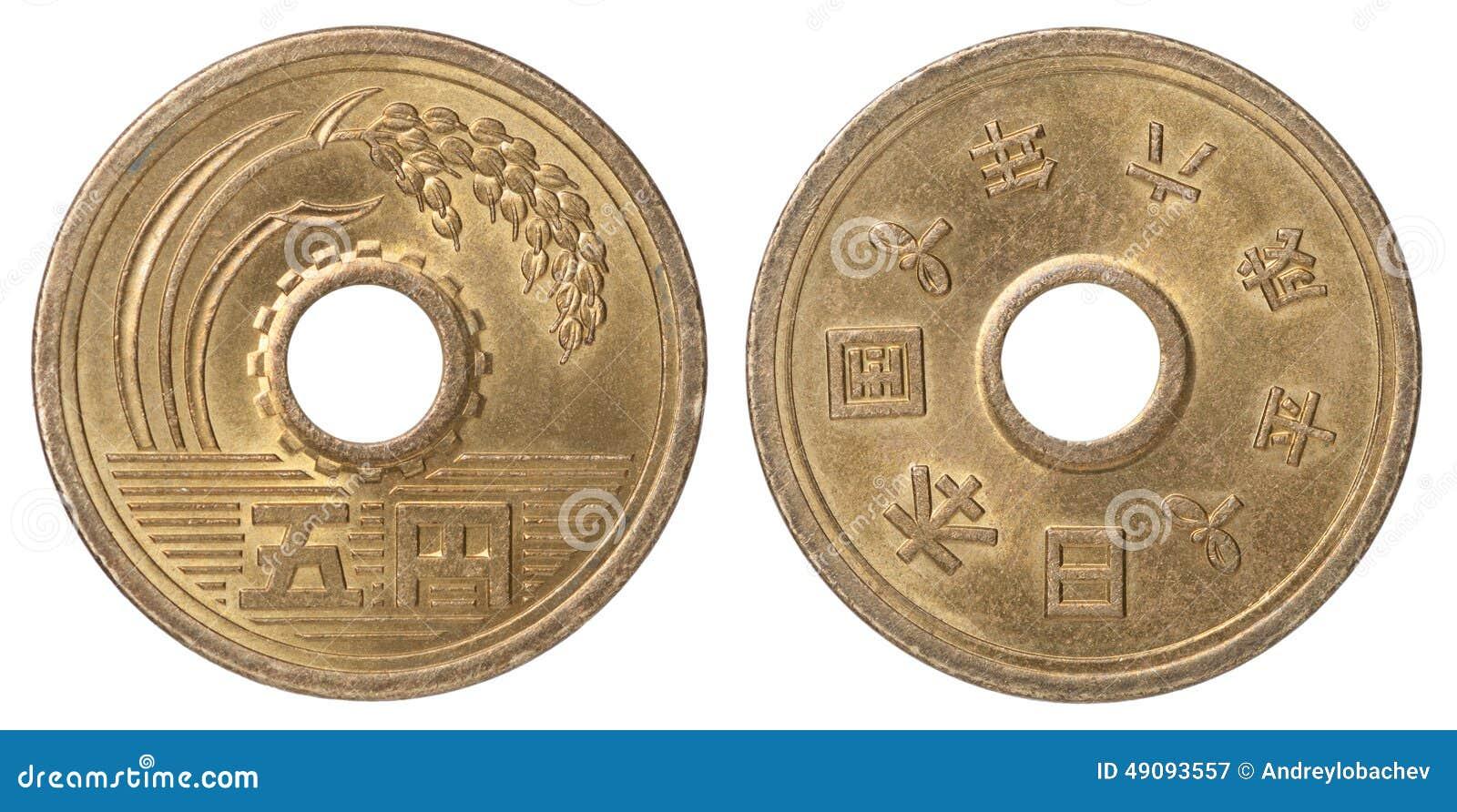 Yens japonais de pièce de monnaie